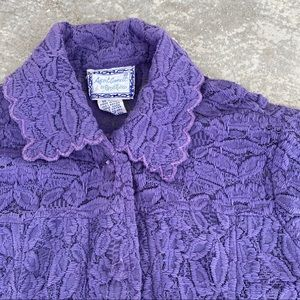 April Cornell Purple Lace Jacket